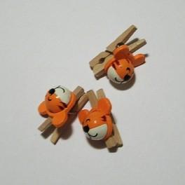 Dřevěný kolíček s tygrem 1 ks