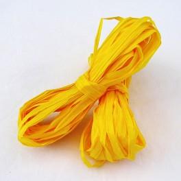 Papírové lýko sytě žluté 20 m