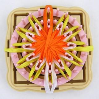 trojbarevná kytička